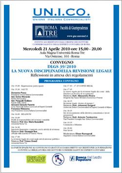 Convegno DLGS 39/2010